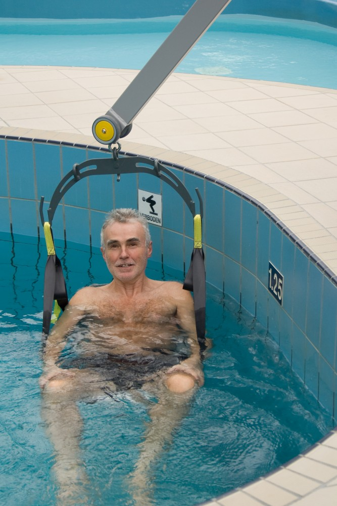 Handi-Move  - Tiljuk klassiek , Mobiele zwembadlift , Tilstoeltje