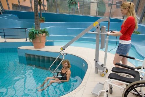 Mobiele zwembadlift, Zwembadliften