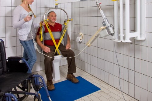 Tiljuk standaard , Wandlift , Toilettildoek