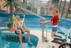 Handi-Move  - Tiljuk klassiek , Mobiele zwembadlift , Badtildoek